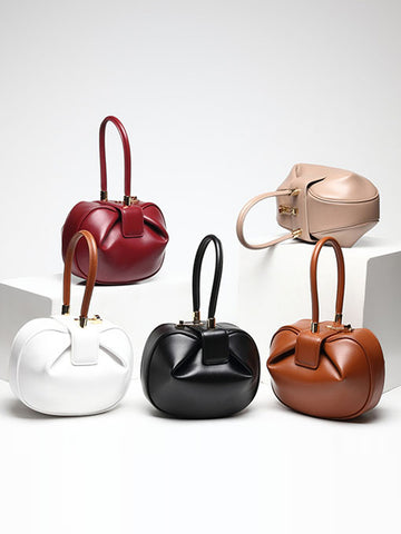 Genuine Leather Dumpling Bag