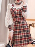 OPERE Plaid Top & Skirt Set