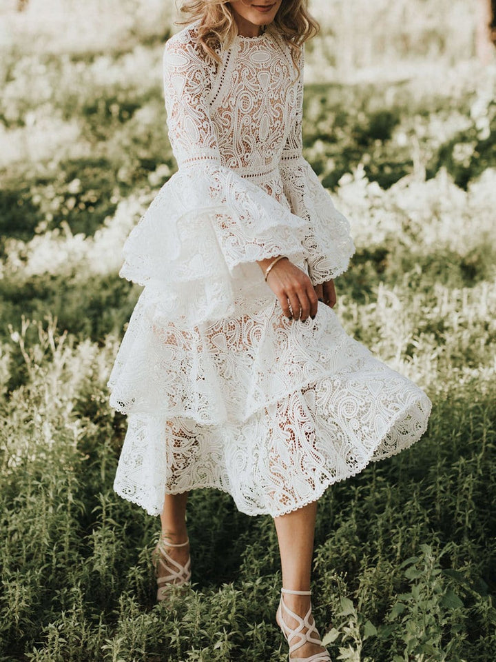 Lace Luxe Dress in White