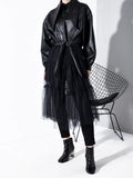 Leather & Tulle Trench