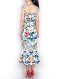 MAJO Printed Midi Dress