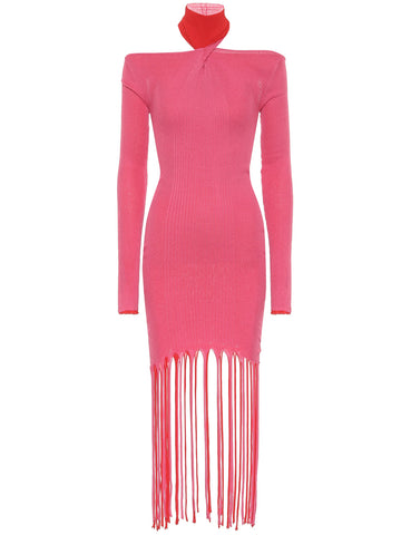 TIKKA Knit Fringe Midi Dress