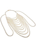 Body Chain Top & Necklace Set in White