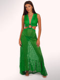 ISLA Fishnet Maxi Dress