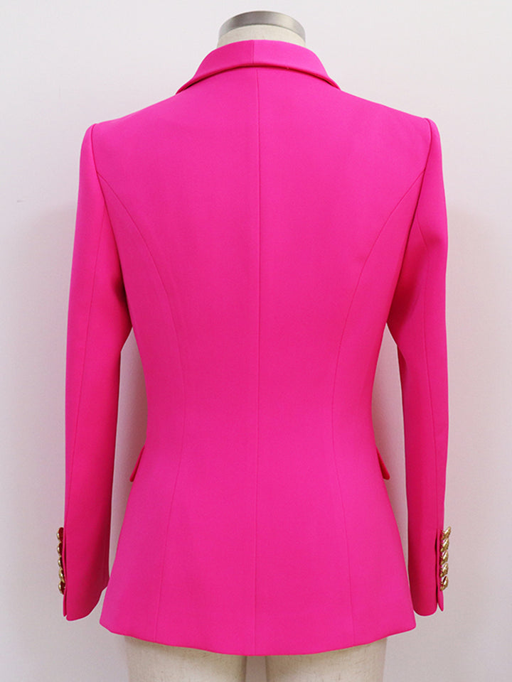 Oversized Fuchsia Double Breasted Blazer