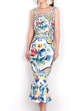 MAJOLICA Printed Midi Dress