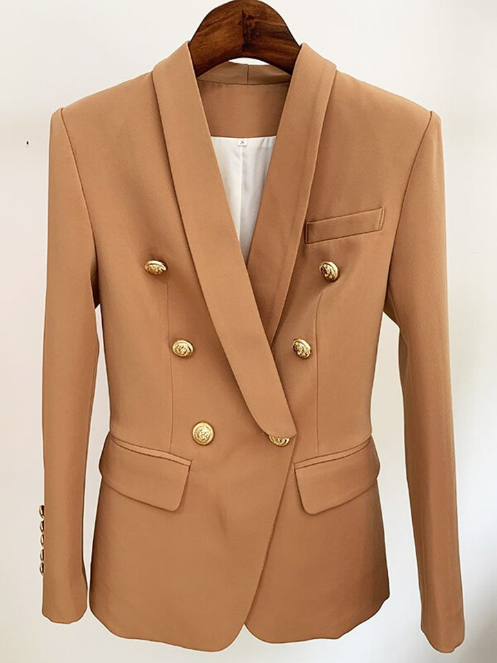 Oversized Double Breasted Brown Blazer
