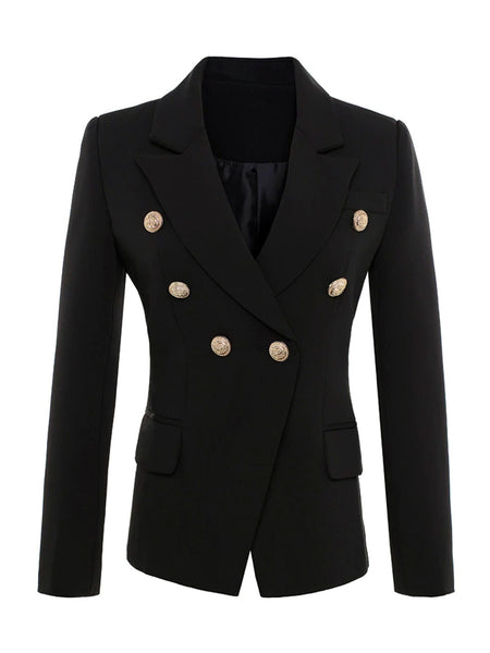 Double-Breasted Blazer in Black