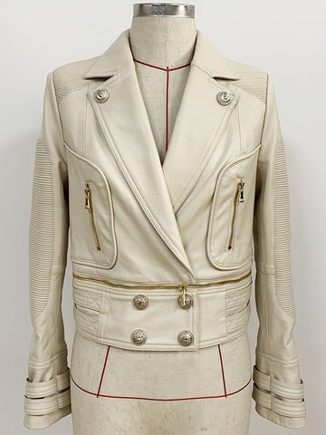 MOTORE Zipped Leather Jacket