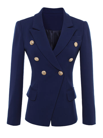 PENELOPE Double-Breasted Blazer in Blue
