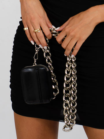 MANDY Chains Purse In Black