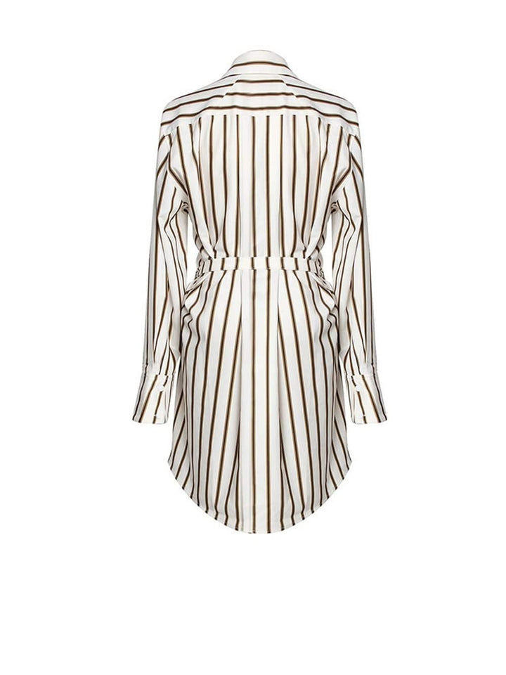 ZADA Striped Irregular Stitch Loose Blouse