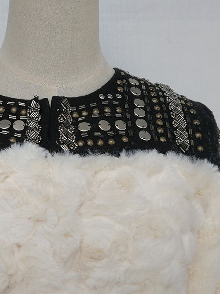 Faux Fur Embellished Jacket