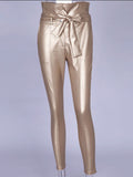 Faux Leather High Waist Pants