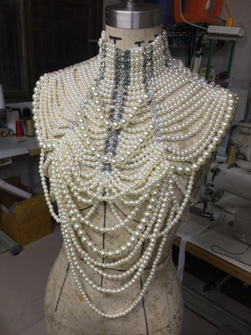 ALTHAIA Pearl Chain Top