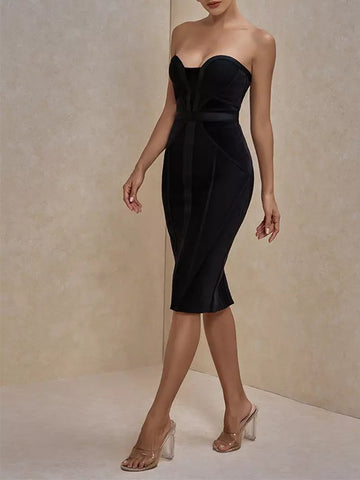 ALVERA Strapless Bandage Dress