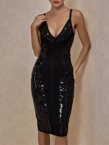 UDDE Sequins Bandage Dress