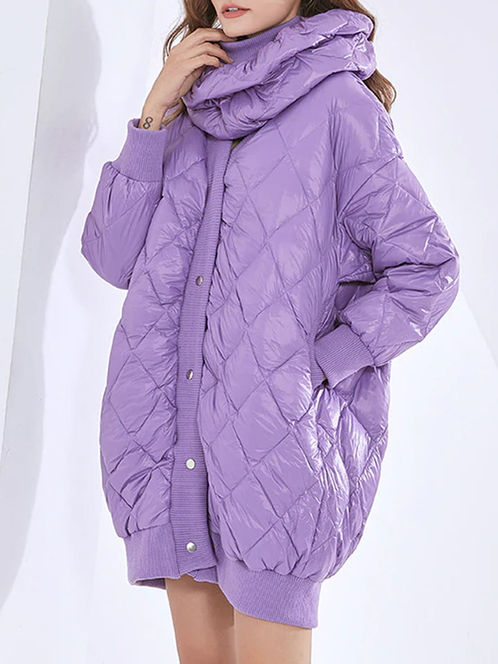 Padded Bib Down Jacket & Mini Skirt Set