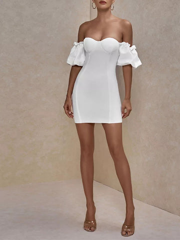 CRUZE Off Shoulder Mini Dress