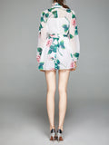 MARCELLE Floral Chiffon Mini Dress