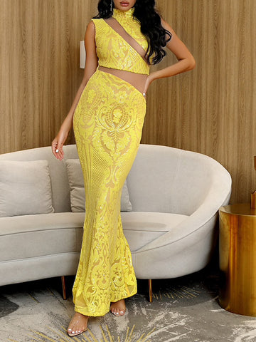 LIMONE Cut Out Maxi Dress