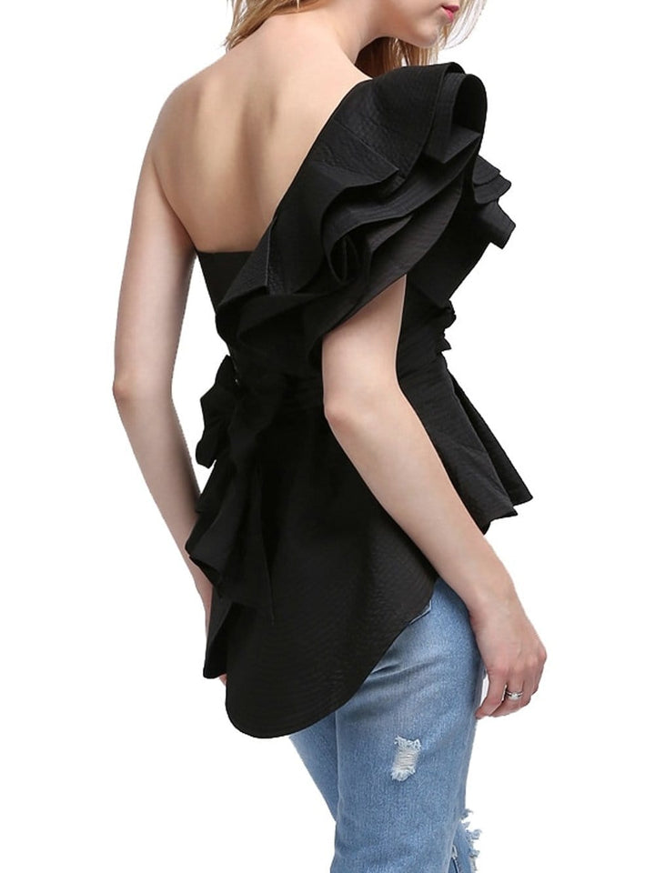 CASTILLA One-Shoulder Top