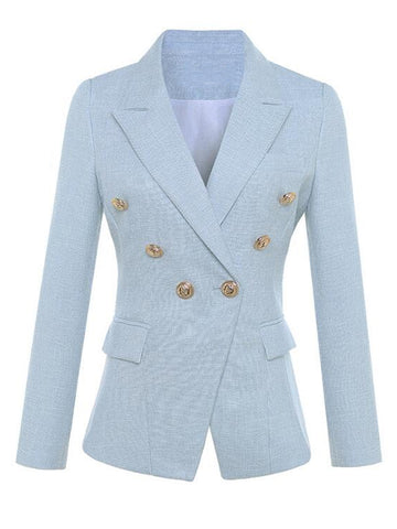 Double-Breasted Cotton-Blend Tweed Blazer