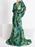 ALYSSA Printed Maxi Dress