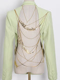 Backless Blazer w Chains