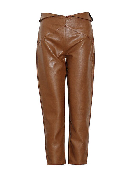 High Waist Leather Pants
