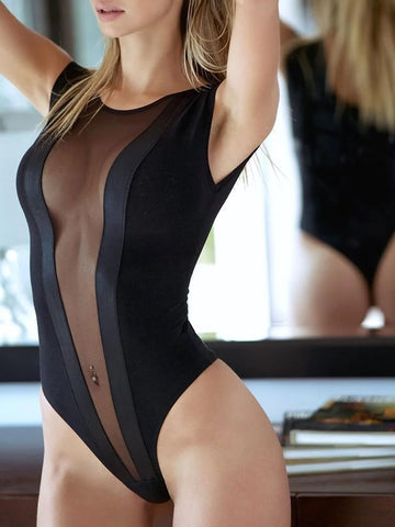 Mesh See Through Bodysuit