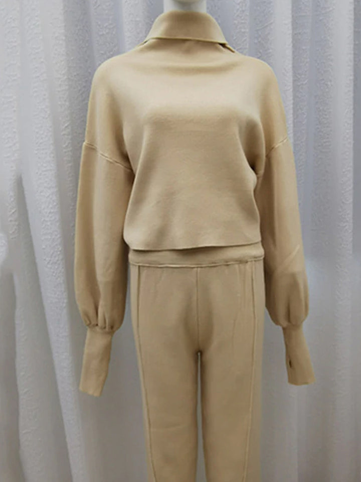 HW Knitted Pullover + Sweatpants Set