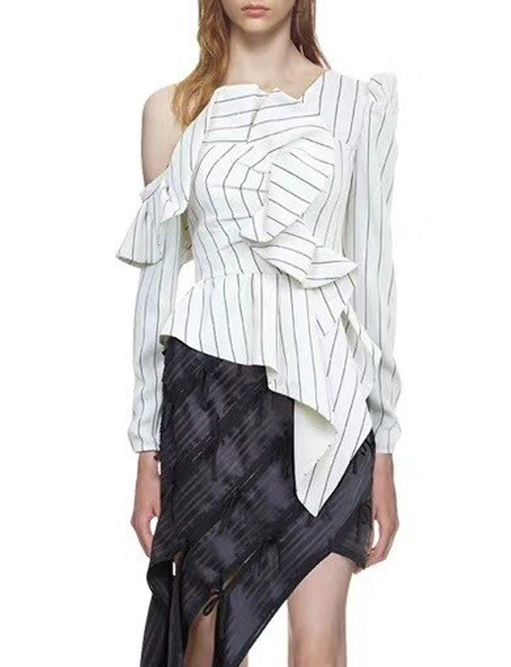 Striped Frill Top