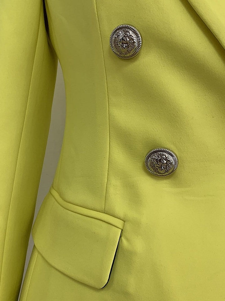 Double Breasted Yellow Blazer