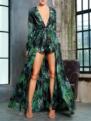 JOSE Printed Playsuit