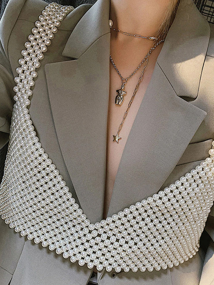 Beaded Pearl Vest