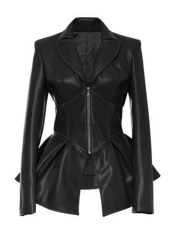 ADONIS Faux-Leather Jacket