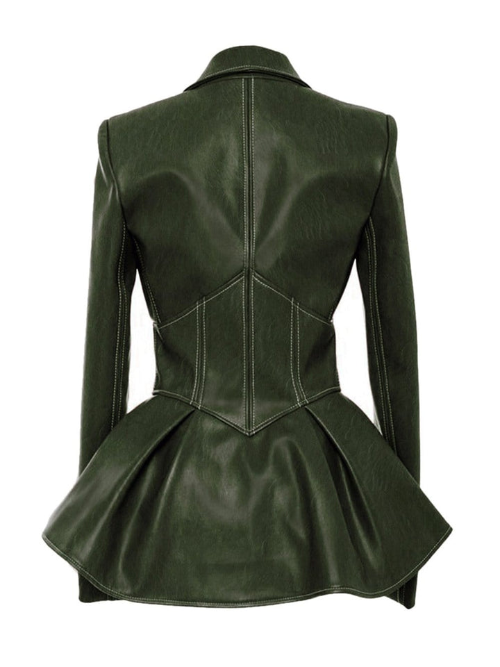 ADONIS Faux-Leather Corset Jacket