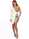 PYRAMID Sequined Mini Dress
