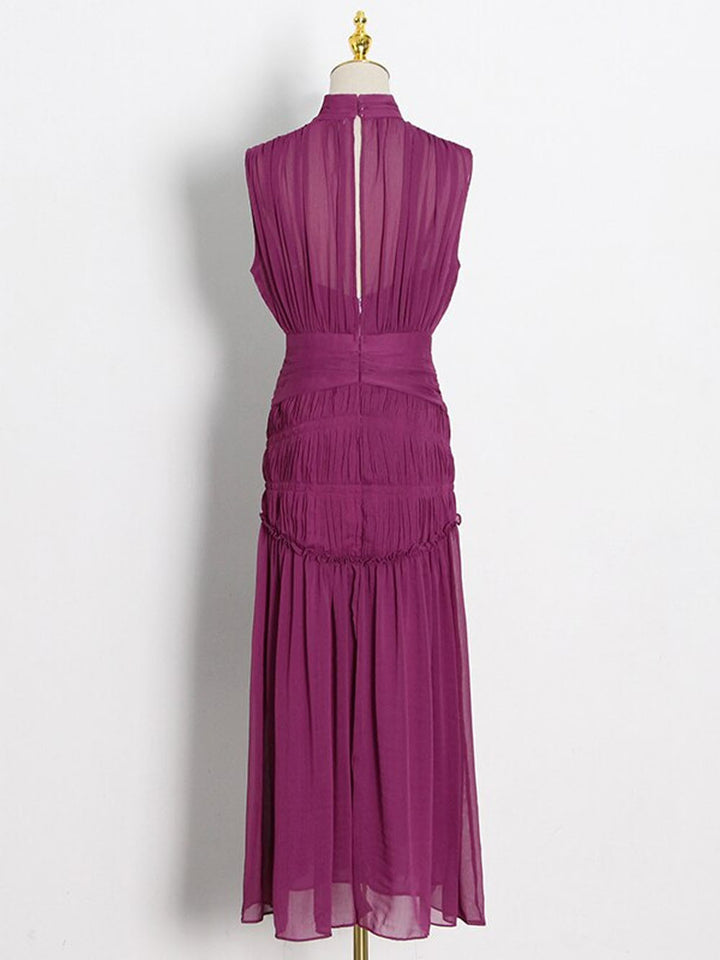 OBANNE Ruched Maxi Dress