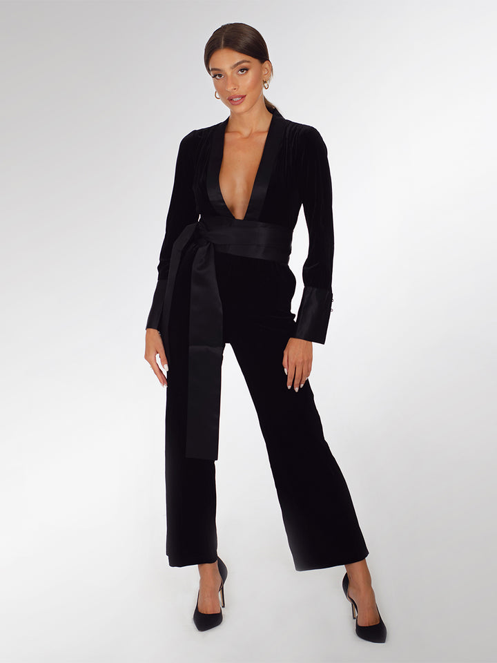 BERESHEET Velvet Jumpsuit