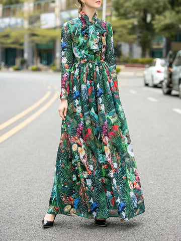ZOEY Floral Maxi Dress