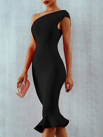 EILEEN Bandage Dress in Black