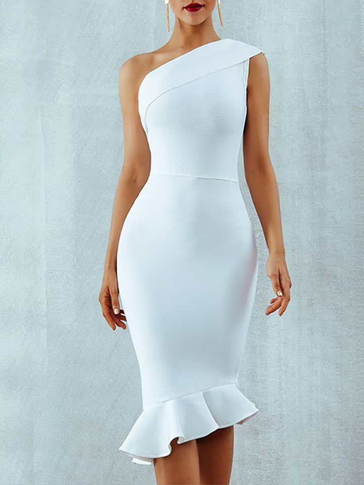 EILEEN Bandage Dress in White