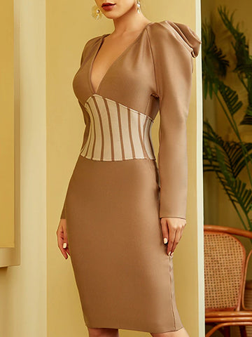VIDAL Corset Midi Dress