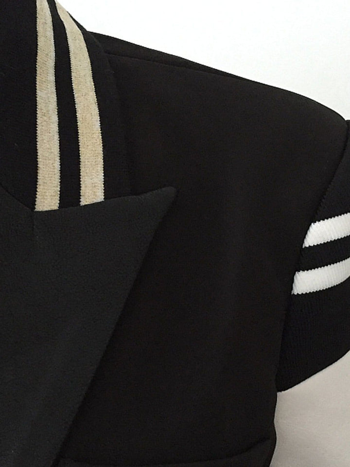 Fitted Stripe Detail Jacket