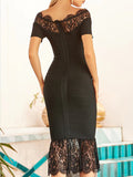 RIMA Lace  Midi Dress
