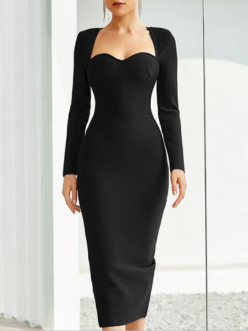 ERSILIA Corset Midi Dress