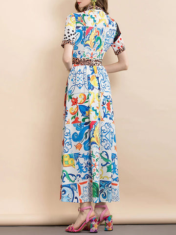 DELLE Printed Maxi Dress