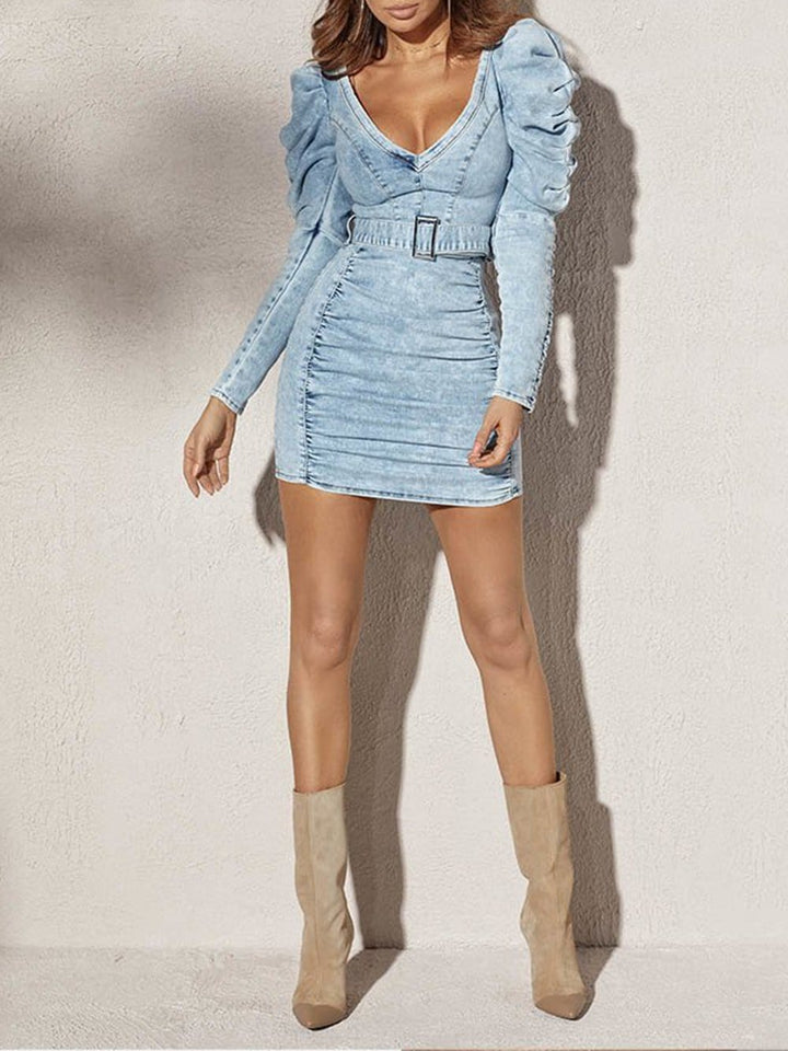 KIMBERLY Denim Mini Dress